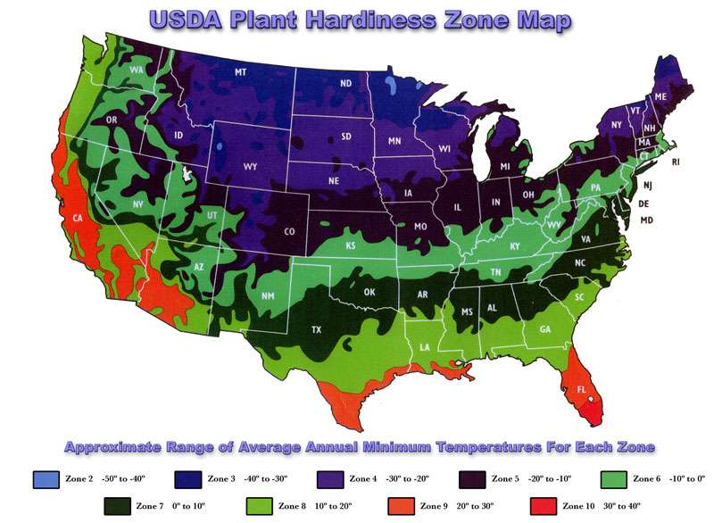 Zone map for What garden zone am i